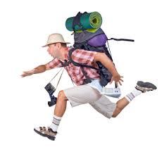 running tourist
